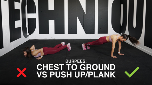 Burpees Technique - Chest to Ground vs. Pushups