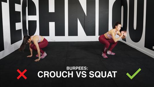 Burpees Technique - Crouch vs Squat