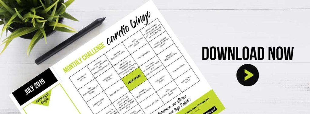Wellness Challenge - Cardio Bingo