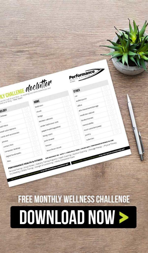 Declutter Wellness Challenge