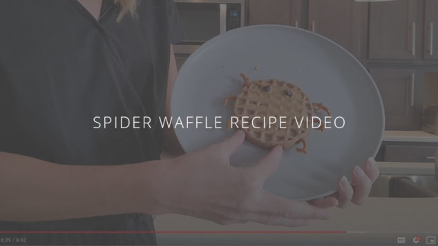 Healthy Kid-Friendly Lunches: Spider Waffles