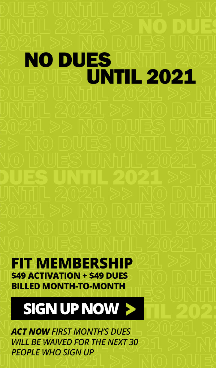 Pay No Gym Membership Dues Until 2021