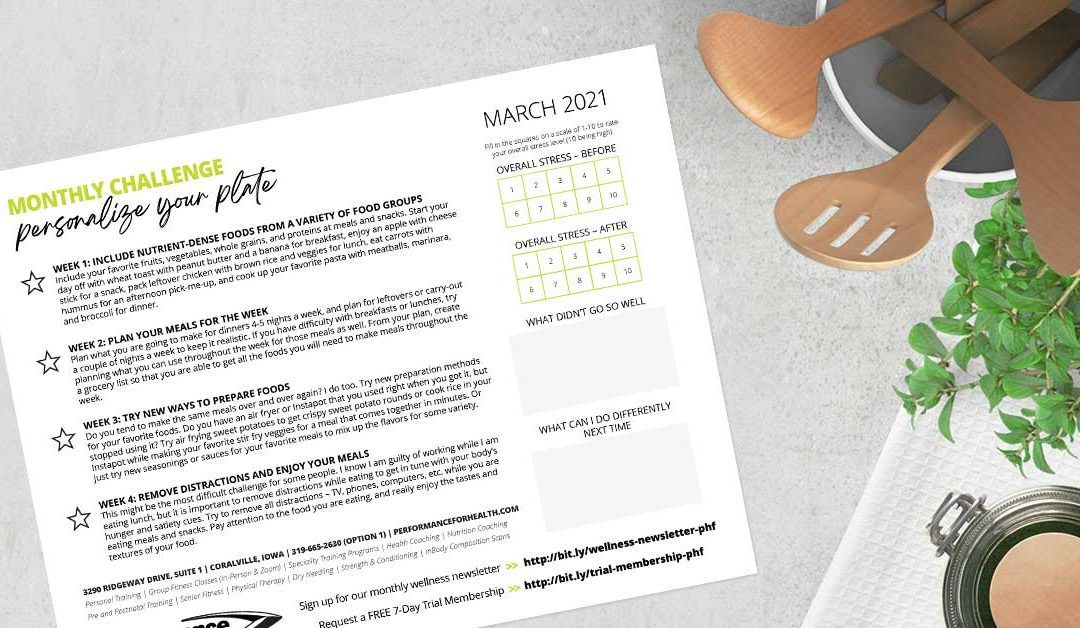 March Wellness Challenge –Personalize Your Plate
