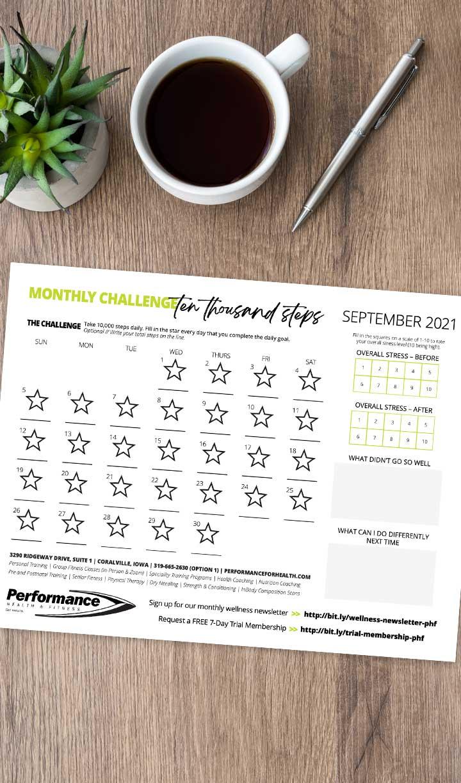 10,000 Step Challenge September 2021