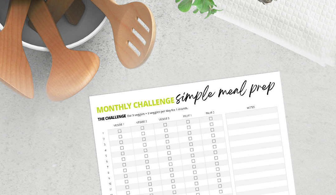 Simple Meal Prep Wellness Challenge