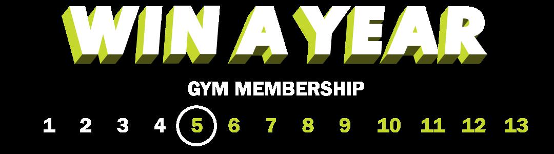 Win a FREE 1-Year Gym Membership (#5 of #13)